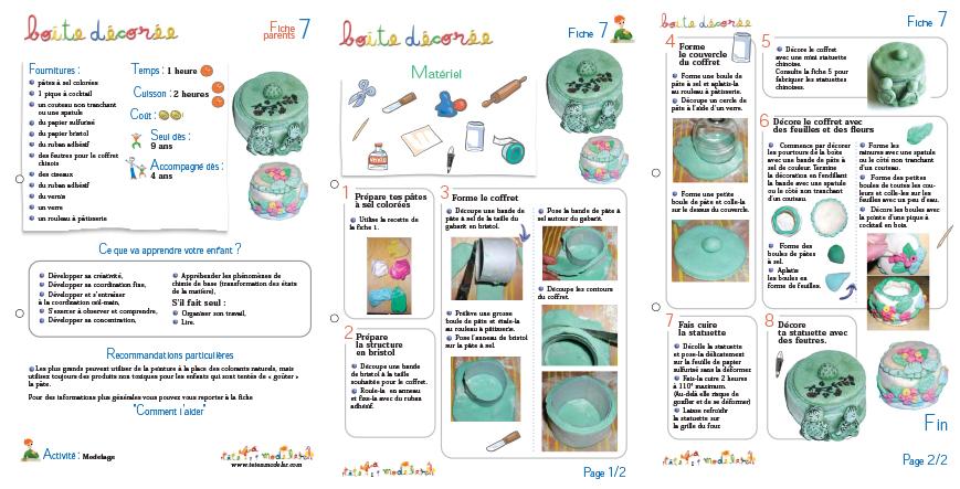 Boite à bijoux en pâte à sel décorée