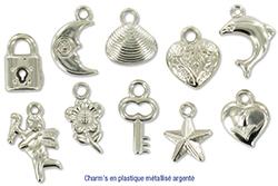 Charms argentés compris dans le Kit bracelet Liberty