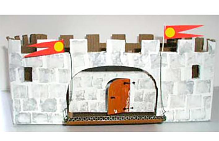 château-fort en carton