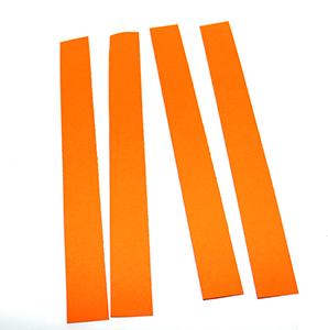 Couper les bandes oranges