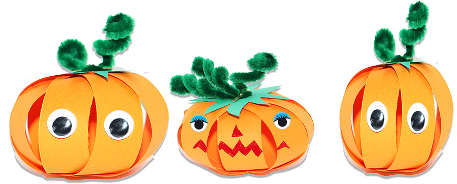 Citrouilles d'Halloween en papier