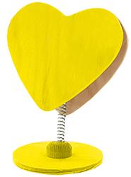 Clip coeur peint