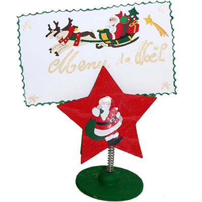 Porte-menu de Noël en étoile