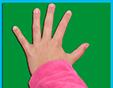 Poser la main sur la feuille
