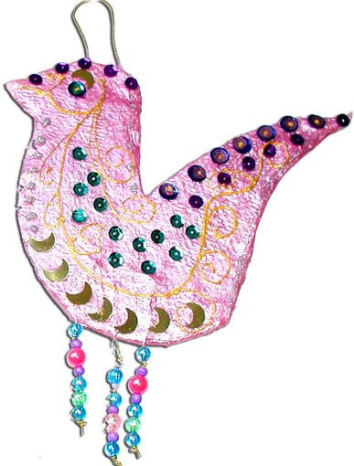 Décoration de sapin colombe