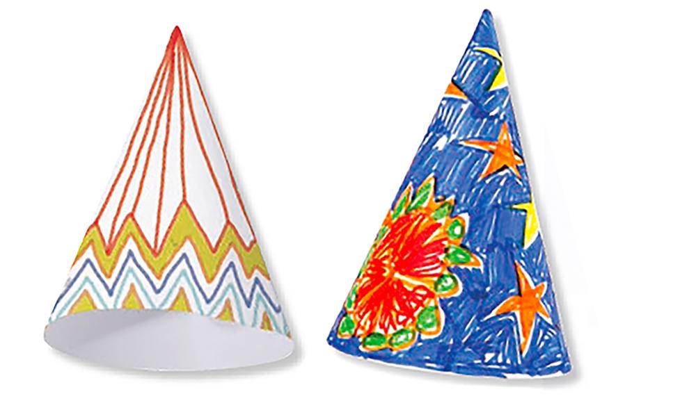 Décorer les chapeaux cônes