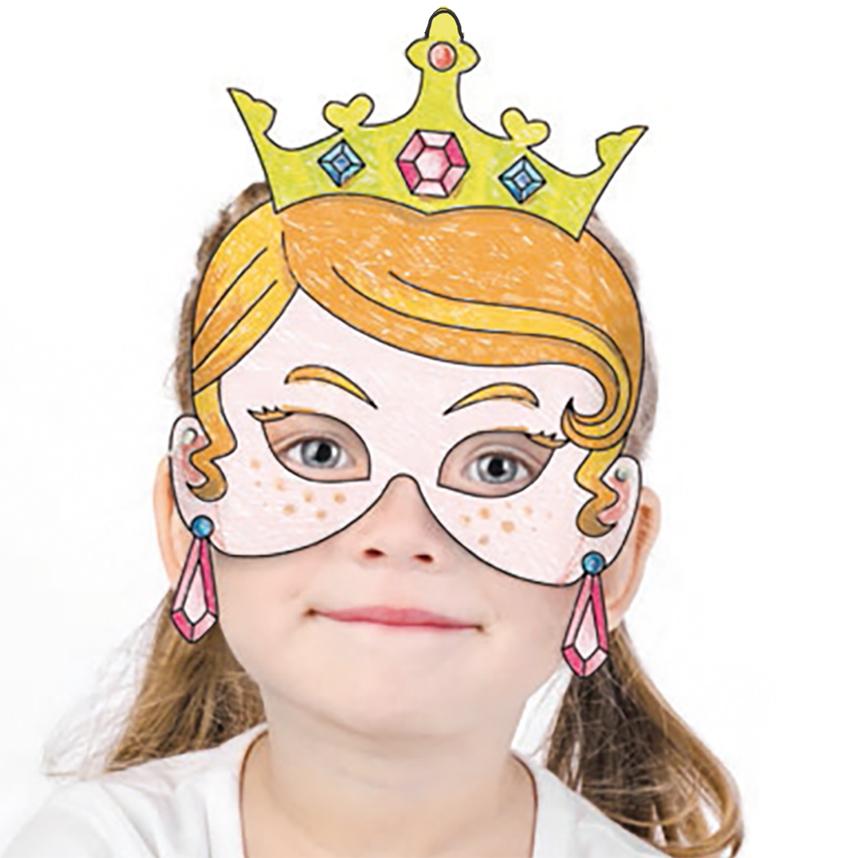 Coloriage d 39 un masque de princesse coloriage 3d - Image de princesse a colorier ...