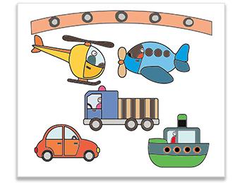 Mobile transports découpé