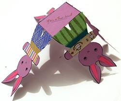Plier la corbeille 4 lapins de Pâques