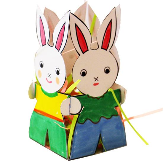 petite corbeille de p ques 4 lapins colorier bricolage p ques t te modeler. Black Bedroom Furniture Sets. Home Design Ideas