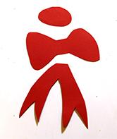 Dessiner un noeud sur le papier rouge