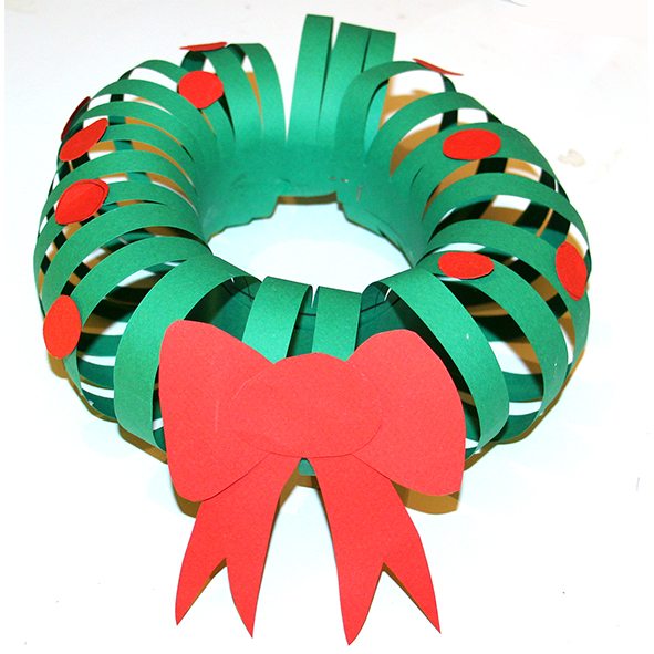 Couronne Noel En Papier Simple