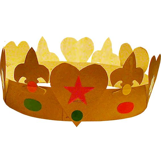 Fabriquer une couronne des rois simple t te modeler - Fabriquer une couronne en papier ...