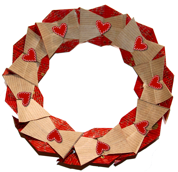 Couronne de Noêl en origami