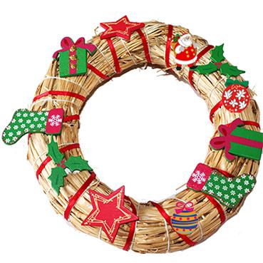 Couronne de Noël de la BOX créative Noël 2013