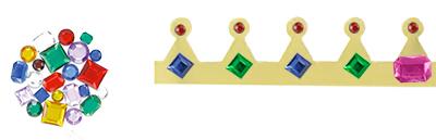 Coller les strass sur la couronne métallisée