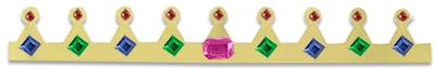 Décorer la couronne avec de fausses pierres précieuses