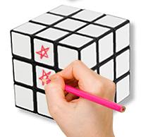 Faire un dessin identique ou unique par face du cube