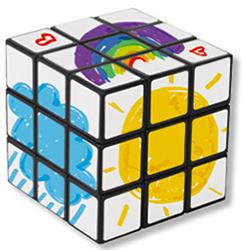 Autre type de décoration pour le cube magique