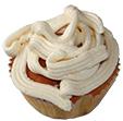 Décorer le dessus du cupcake avec la crème