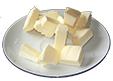 Couper le beurre en cubes