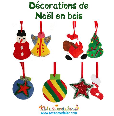 Décorations en bois de la Box de Noël