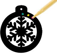 Décorer le contour de la boule de Noël