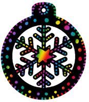 Décorer la boule de Noël en carte à gratter