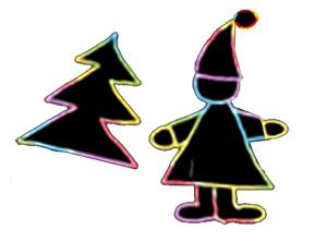 Découper la décoration de Noël