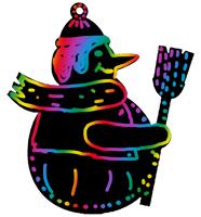 Décorer les motifs de Noël en grattant la carte