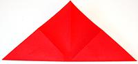 Plier la feuille dans la diagonale