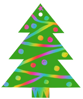 Dessiner les boules sur le sapin de Noël