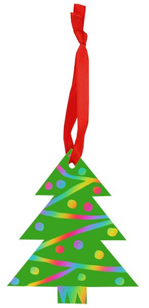 Un sapin de Noël en carte à gratter verte