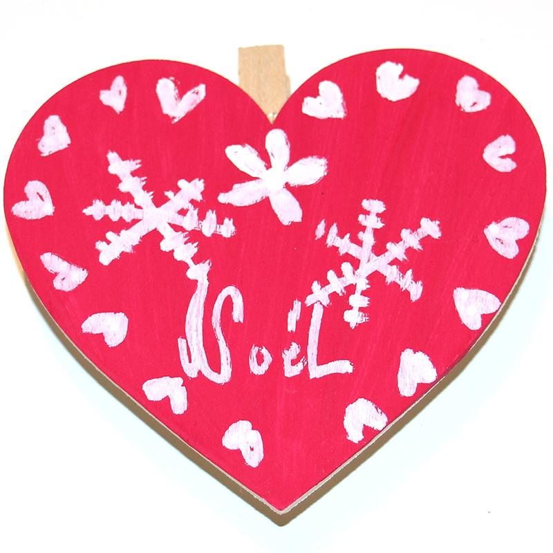Décoration de Noël en forme de cœur