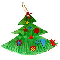 Décoration sapin de Noël en carton