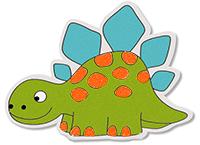Décorer les taches sur le dinosaure