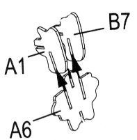 Assemblage colonne vertébrale dinosaure