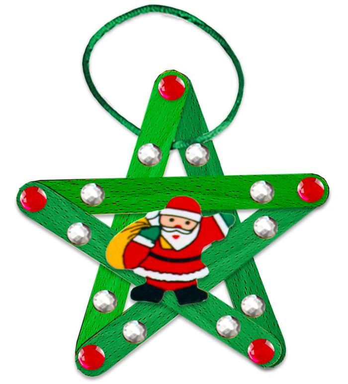 Etoile de Noël au Père Noël