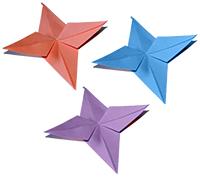 Etoiles origami simples