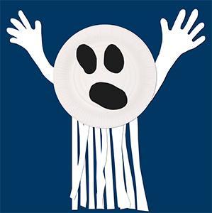 Coller les bandes sous le fantôme