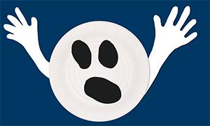 Coller les bras du fantôme assiette