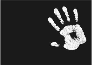 Laisser l'empreinte de la main