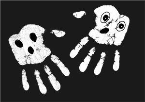 Peindre une expression sur les fantômes