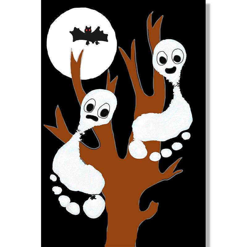 Fantômes empreintes de pieds