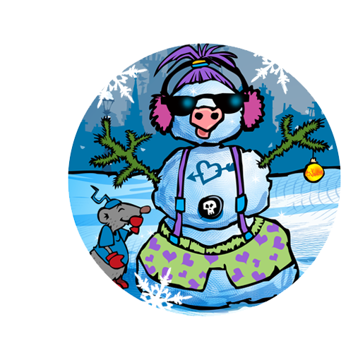 Bonhomme de neige habillé