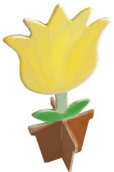Le pot de fleur est assemblé
