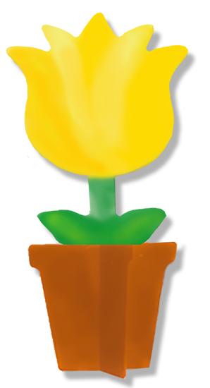 Petit pot de fleur en kit à décorer