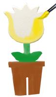 trois petits pots de fleurs pour la d coration fleurs sur t te modeler. Black Bedroom Furniture Sets. Home Design Ideas