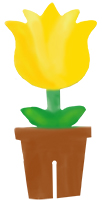 Peindre l'autre face du pot de fleur