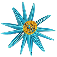 Pliage fleur origami